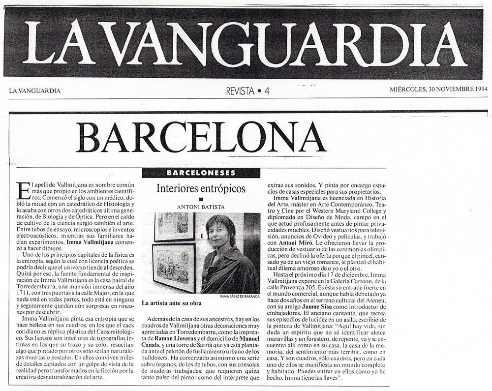La Vanguardia Imma Vallmitjana